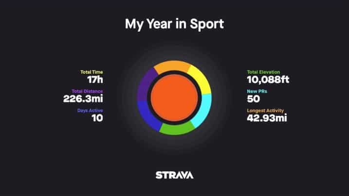 Strava - My Year in Sport