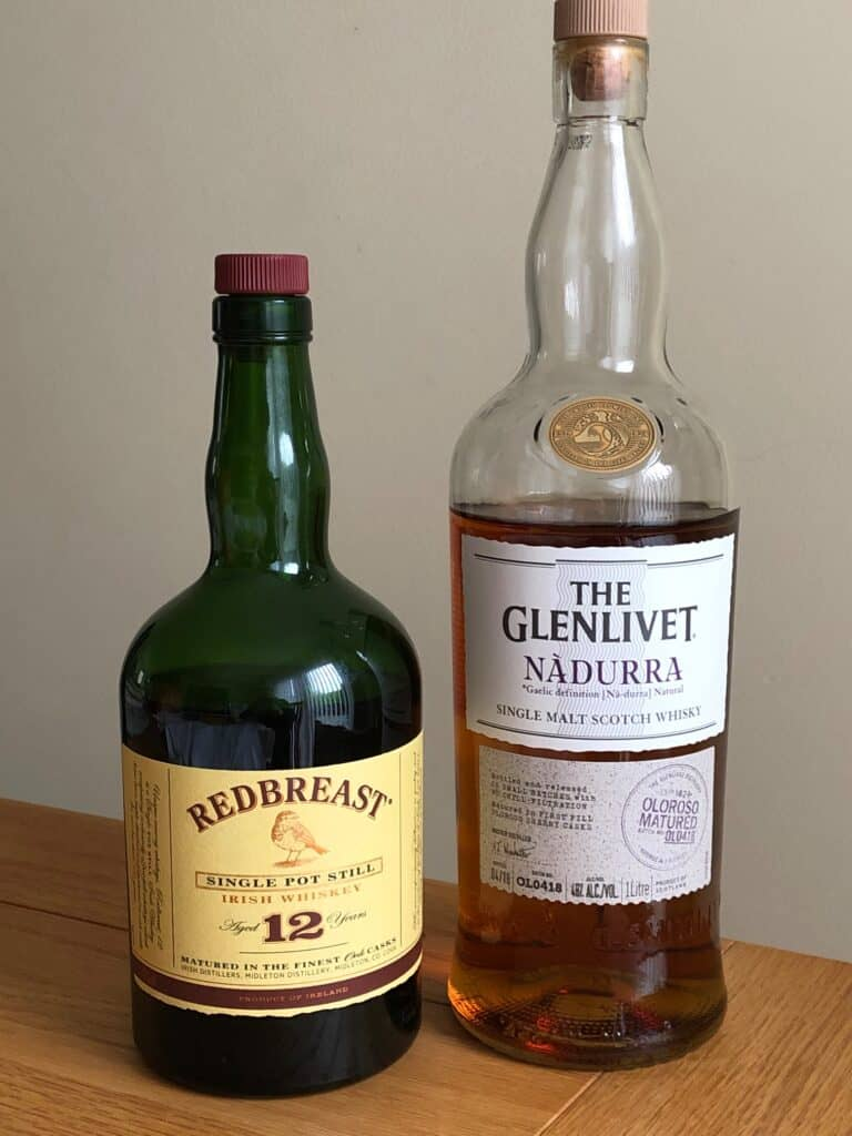 redbreast whisk(e)y and nadurra whisky